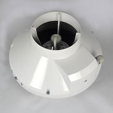 Dit is een buisafzuiger die geschikt is voor een kweekruimte van 1x1x2 meter en is ongeveer 250 m3.