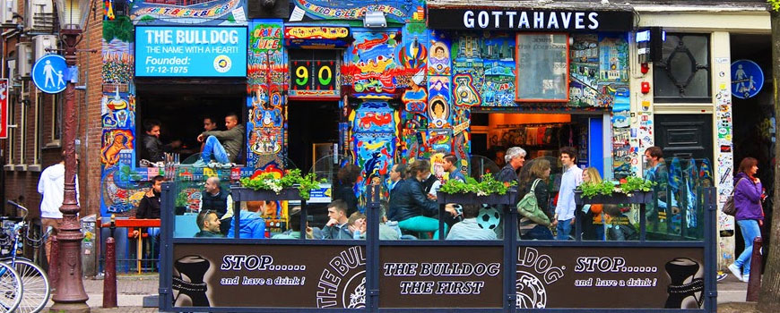 Coffeeshop The Bulldog in Amsterdam